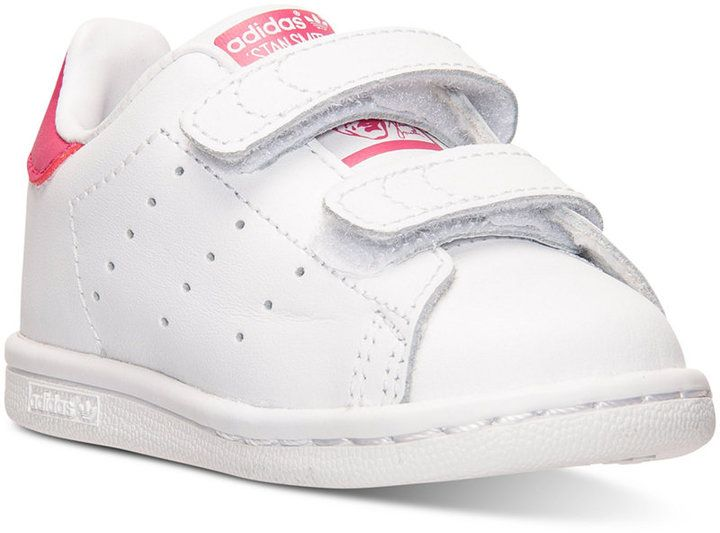 adidas adidas Toddler Girls\u0027 Stan Smith Casual Velcro� Sneakers from Finish  Line