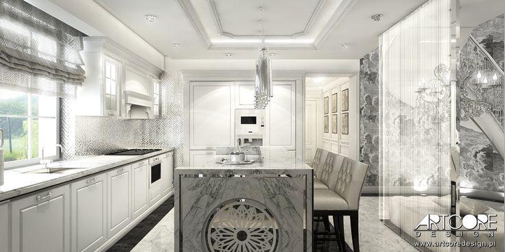 Beautiful, classical style kitchen.