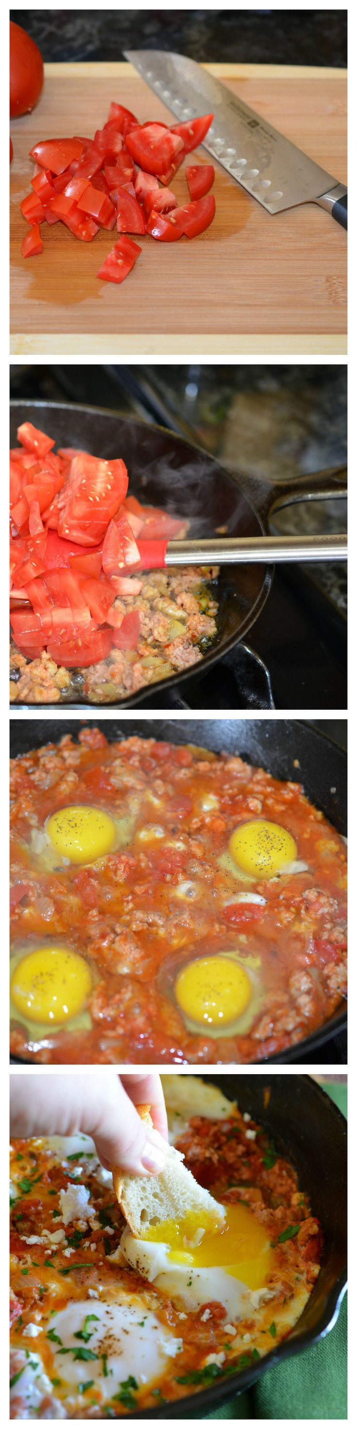 Eggs Poached in Tomato Sauce- wonderful meal for breakfast, lunch or dinner