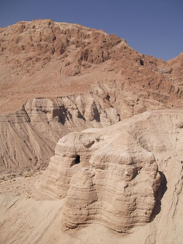 Qumran, Isreal where the Dead Sea Scrolls were found.