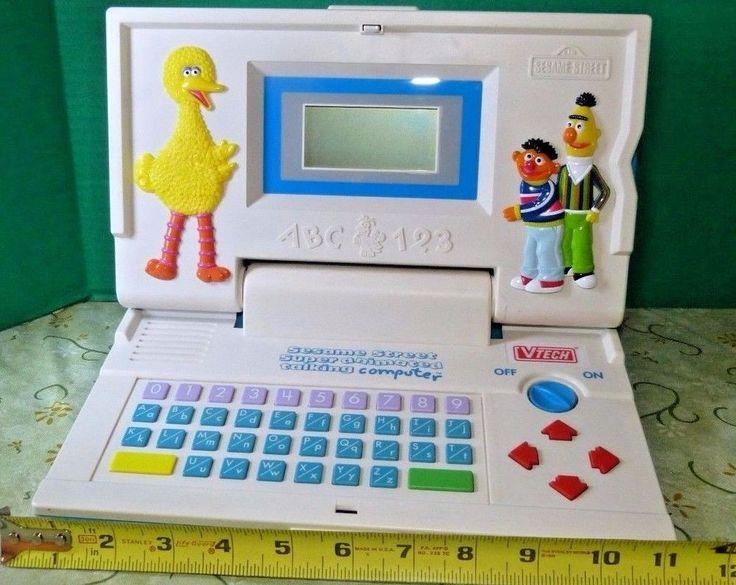 Sesame Street (1992) Super Animated Talking Computer 8 Cartridges WORKS FREESHIP #VTech