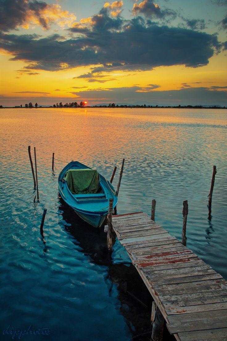 https://flic.kr/p/J4b2G7 | Lagoon Sunset | ...Messolonghi...