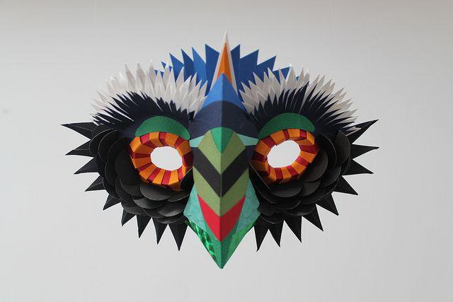 Paper mask by Diana Beltran Herrera
