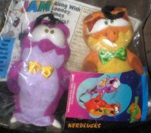 Space Jam McDonald's Plush Nerdlucks Looney Tunes Warner Bros Tune Squad Michael Jordan 1996 Sealed $5