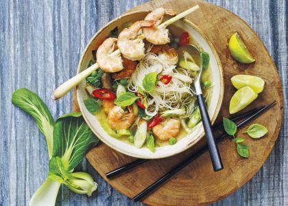 Chili, lime och citrongräs sätter smak på denna goda thaisoppa!