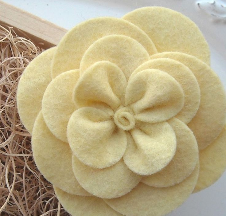 Gardenia Felt Flower Pattern Tutorial - PDF Instructions will be emailed to you within 24 hours - DIY (do-it-yourself) How To Instructions. $5.95, via Etsy.