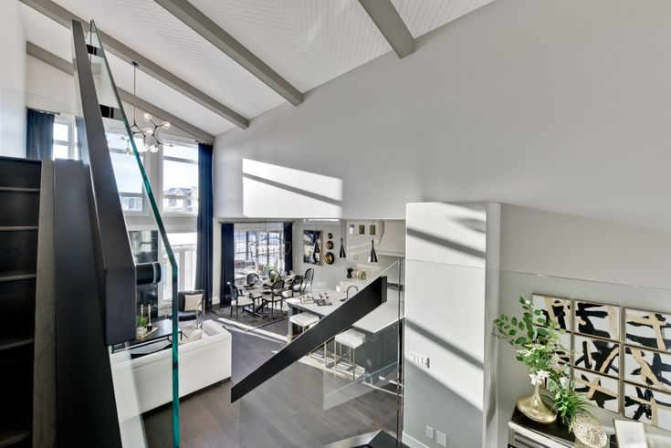 Glass railings really keep the space open.