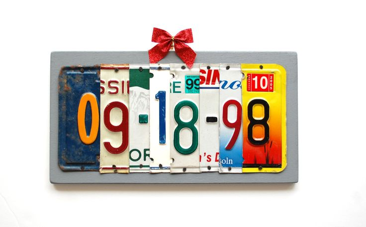 10th Anniversary Aluminum Gift - 10th anniversary tin gift - tenth anniversary gift - anniversary gift for him - recycled license plate sign by UniquePl8z on Etsy https://www.etsy.com/listing/161856329/10th-anniversary-aluminum-gift-10th