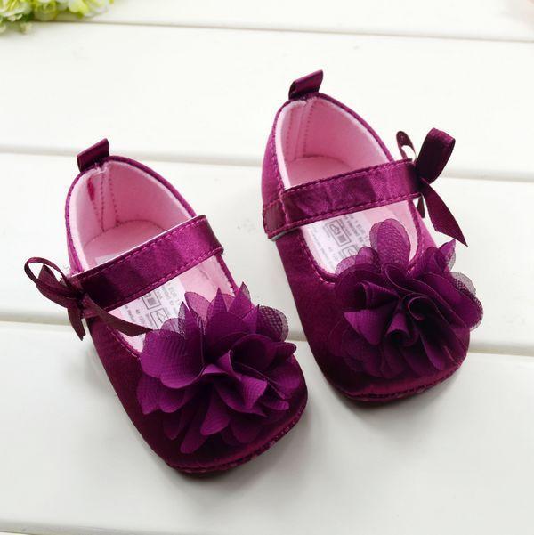 BOBORA Infant Girls Cotton Ribbon Bowknot Soft Bottom Flower Prewalker JDsTTXXa