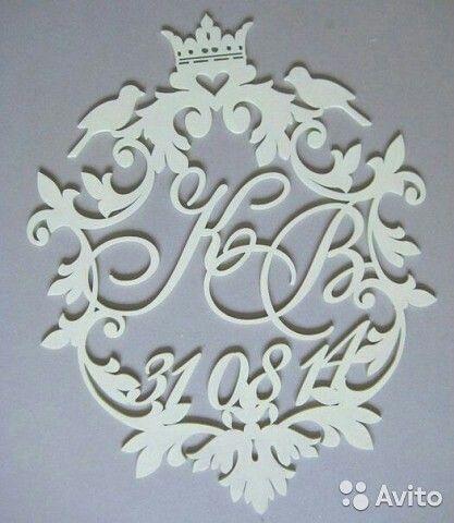 Изготовление на заказ семейный герб,монограмма,вензель ,буквы из фанеры ,слова из дерева ,инициалы