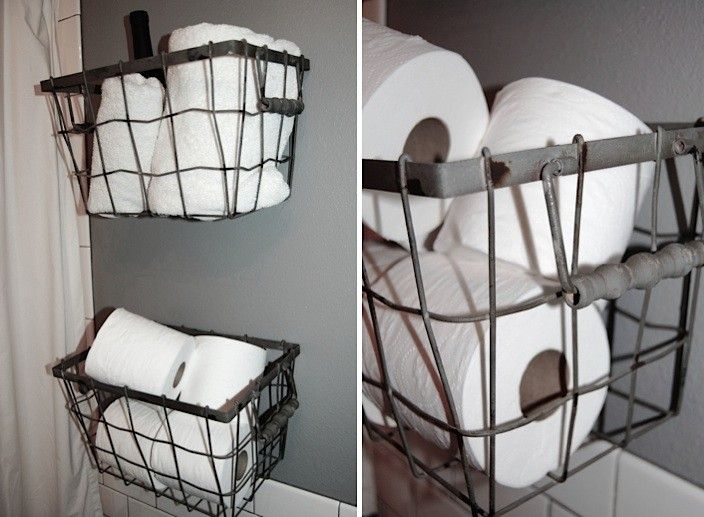 Nice Gritty Glamour At The Palladian Hotel In Seattle. Wire Basket Bathroom ...