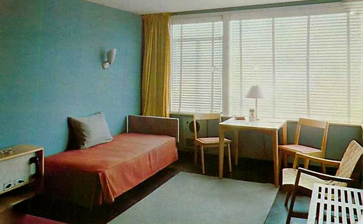 245 best Vintage Motel Interiors images on Pinterest | Hotel motel ...