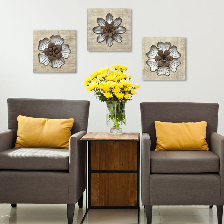 Metal Flower Wall Decor Hobby Lobby : Best ideas about brown accent wall on