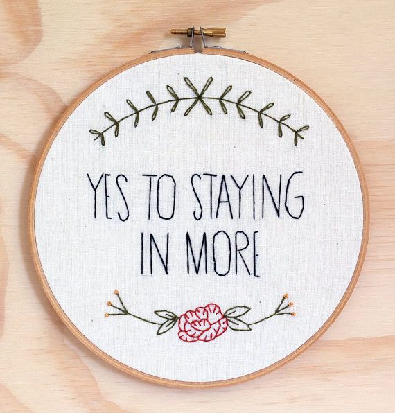 A Liz Lemon quote embroidery to encourage the world to do good.