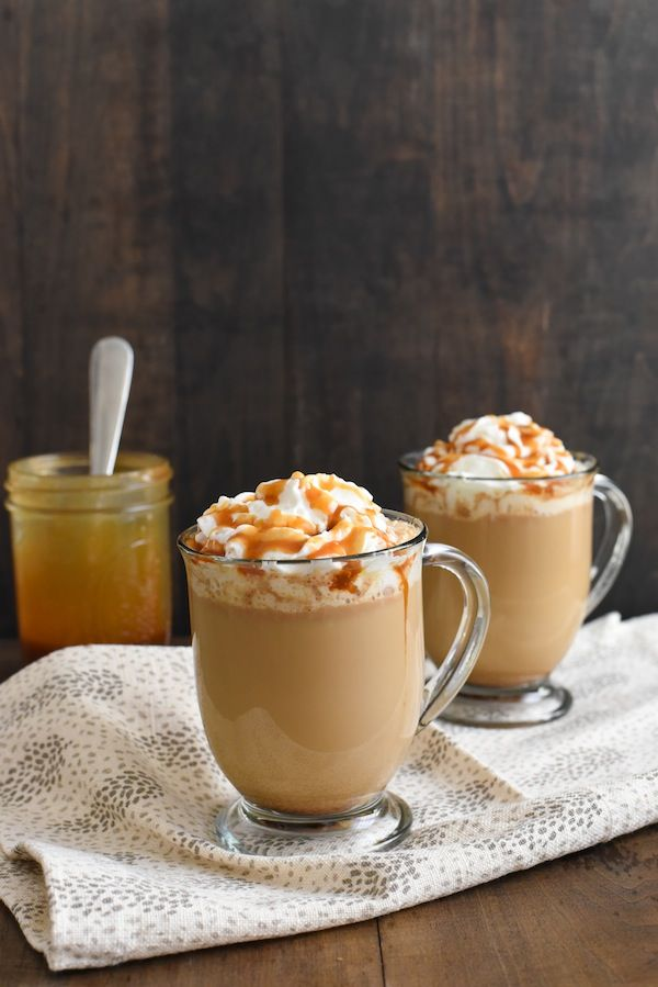 Caramel Brulee Coffee - Make a coffeehouse-style drink at home in just minutes! Coffee, milk, caramel sauce and a touch of brown sugar come together to make a sweet coffee treat!