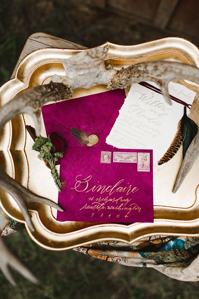 magenta boho wedding inspiration | Samantha McFarlen | Glamour & Grace