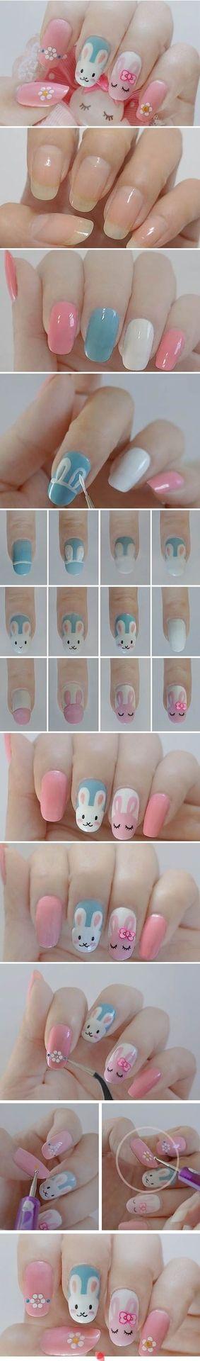 DIY Easter Nails
