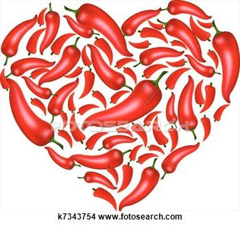 Desenho - pimenta pimentão, coração. Fotosearch - Busca de Ilustrações Clip Arte, Posters de Parede, e Vetores Gráficos EPS