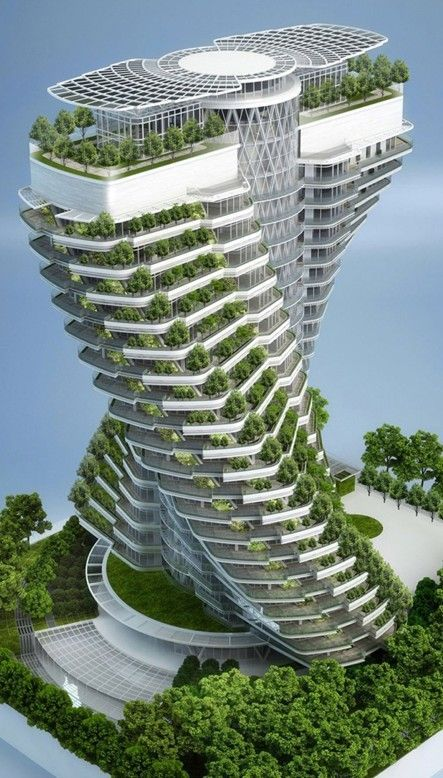 AWESOME! Agora Tower (concept art) under construction in Taipei, Taiwan (2016 completion date) • Vincent Callebaut Architectures