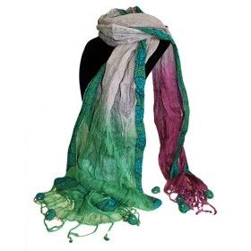 Wholesale Scarves Green Brown Lilac - HipAngels.com  Green Brown Lilac Scarf is made of pre washed fabric they will not shrink or deform however we recommend to only hand wash separately in cold water.  Choose your favourite colour  to match different clothing.  This scarf is ideal for wearing in parties, meeting or any occasion really, the material and the colours will match with any outfit.  #Linen_Scarves #Scarves_Linen #Wholesale_Scarves