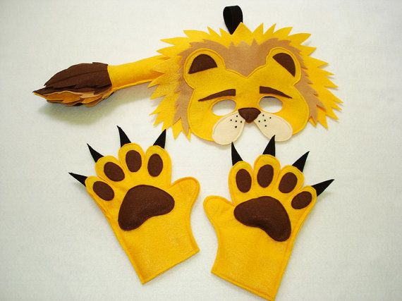 Children's Safari Animal LIONS Felt Costume Set by magicalattic, $35.00