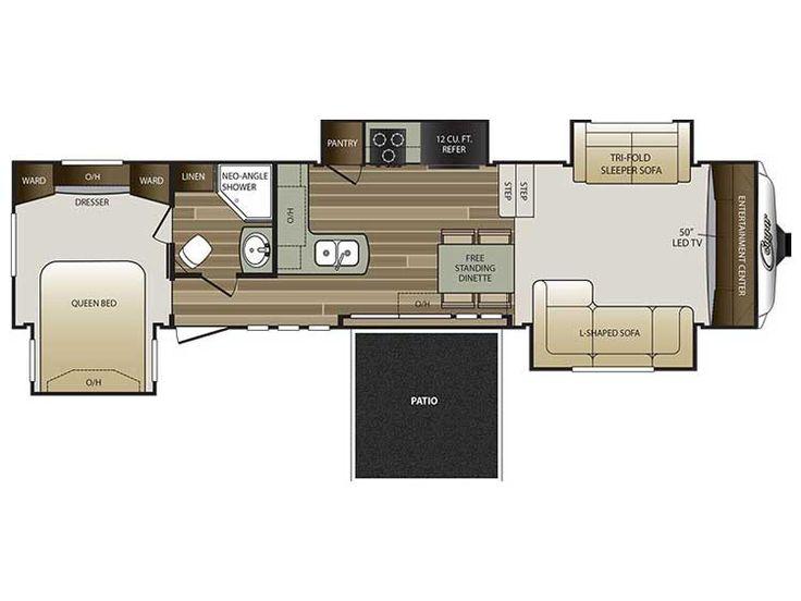 2016 Keystone Cougar 337PFL Floor Plan 5th Wheel