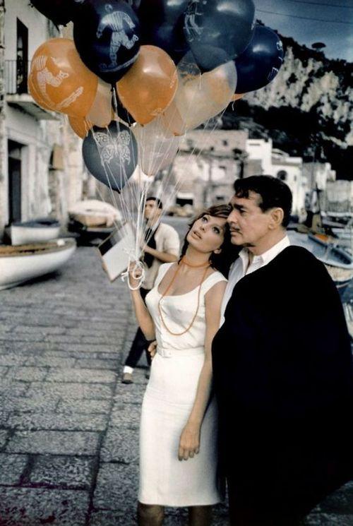 Sophia Loren and Clark Gable in 'Capri', 1960.