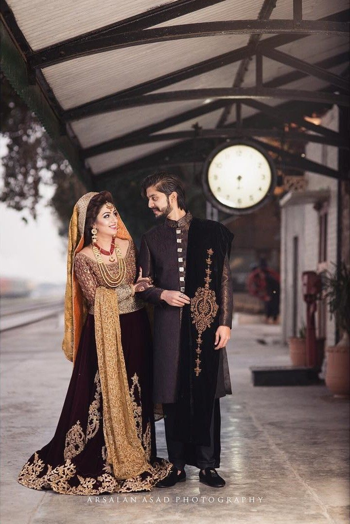 Black Dress In A Wedding Ceremony Are You Ready To Answer The Questions Of The Guests Couple Wedding Dress Bridal Dress Design Pakistani Bridal Dresses