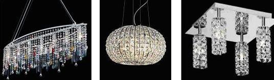El cristal en las lámparas modernas