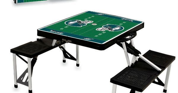 Philadelphia Eagles Black Portable Picnic Table | Portable Picnic Table, Picnic Tables and Philadelphia Eagles