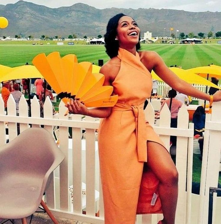 Picture of the day: Nomzamo Mbatha stuns at VC Masters Polo - Sowetan LIVE