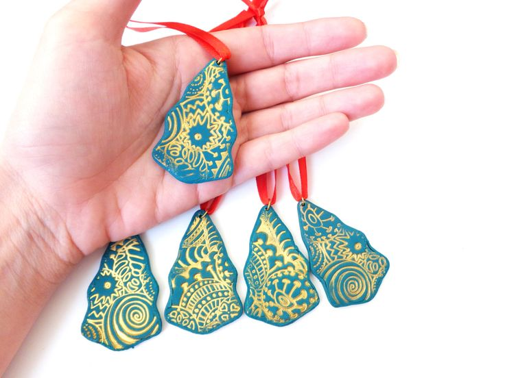 Christmas Ornaments 1pc, Polymer Clay, Tree Ornament, Christmas Decoration, Christmas Tree Decor, Handmade Ornament, Christmas Gift by FairyDustHC on Etsy
