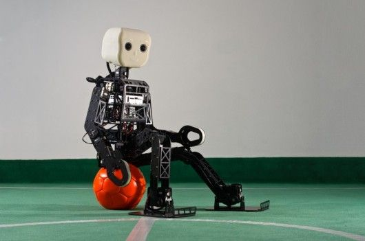 Just five teams managed to qualify for RoboCup's TeenSize League in 2012, mainly because building a bipedal humanoid robot that stands over three feet tall (95 cm) is a difficult proposition for most universities. However, a pair of commercial options may lead to bigger and better robotic soccer matches. The first one, from the University of Bonn, builds on the success of their award-winning platform. The second option from hobby kit maker RoboBuilder, which is something of...