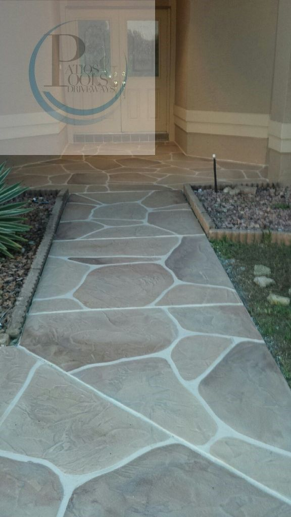 Super Clean Looking Decorative Concrete Overlay Work For This Residential  Walkway Job. #decorativeconcrete