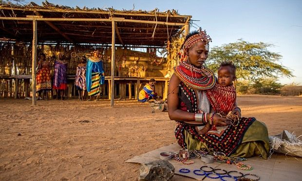 A Kenyan village where men are banned