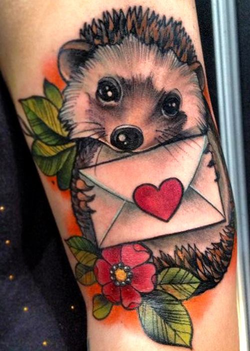 Hedgehog Tattoo | Tattoos | Pinterest