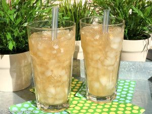 Refreshing Iced Jasmine Green Tea with Lychee Jelly
