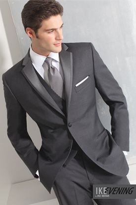NEW at Tuxedo Junction Ike Behar Charcoal Grey Tuxedo! http://tuxedojunction.com/Styles/StylesByCategory/Tuxedo/CHARCOAL%20GREY