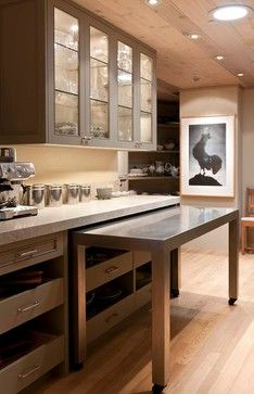 Pull Out Table Kitchen Design Ideas, Pictures, Remodel and Decor