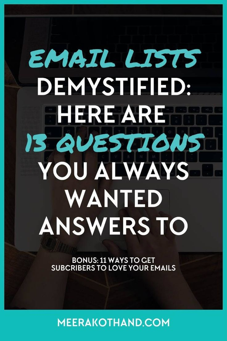 Wish you could get answers to all those pesky email list questions on your mind? They seem simple enough but you just can't get a straight forward answer right? You're not the only one. Click to get answers to 13 burning email list questions that every bigger has had at one point or the other.