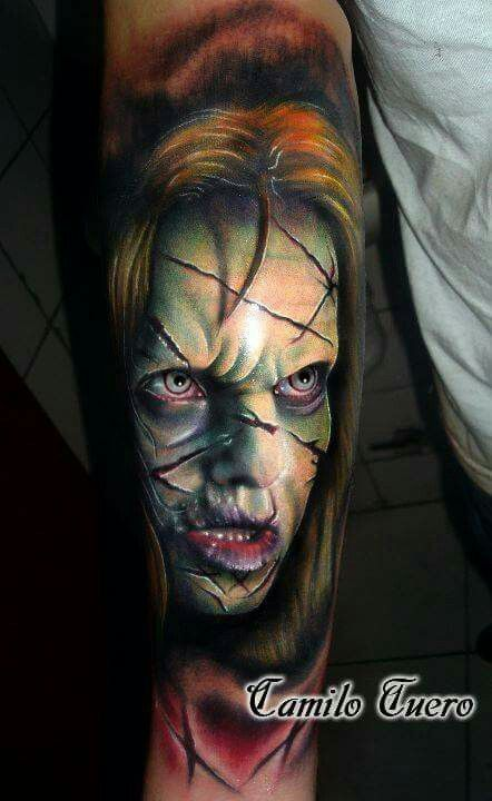 17 best images about horror tattoo on pinterest walking dead creepy horror and zombie tattoos. Black Bedroom Furniture Sets. Home Design Ideas