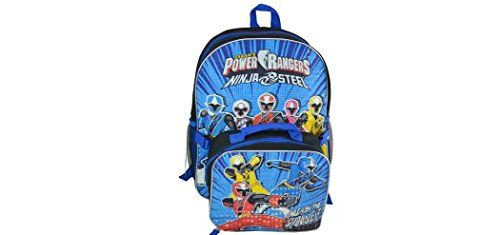 "Power Pwrb Kids Backpack, 16""  Power Rangers 16"" Backpack with Lunch Kit *Prism Printing  This product is manufacture in United States  Product is of great value and easy to use"