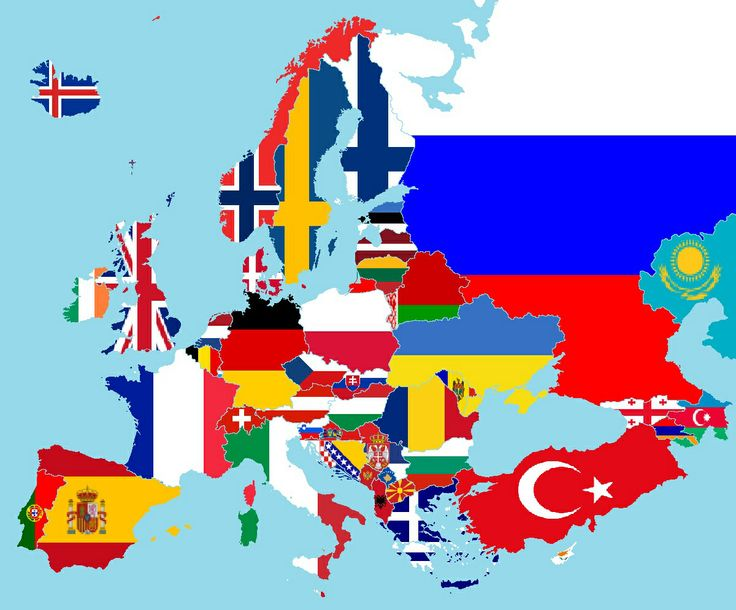 Map of Europe by Flags