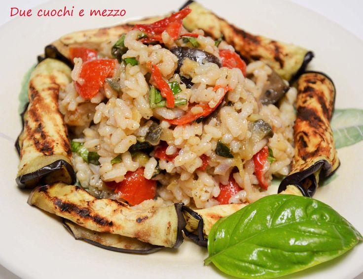 riso freddo con verdure grigliate