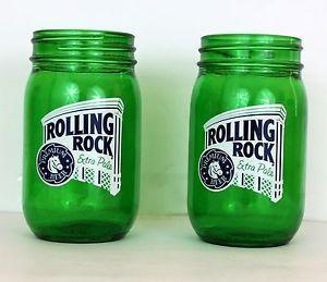 Rolling Rock Beer Mason Jars