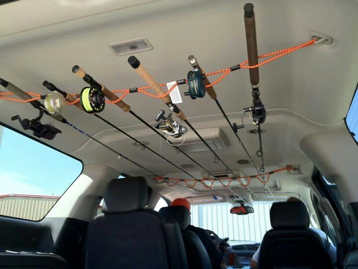 How to stow your fishing rods in your vehicle.  OMG how did I not know this all this time. WOW