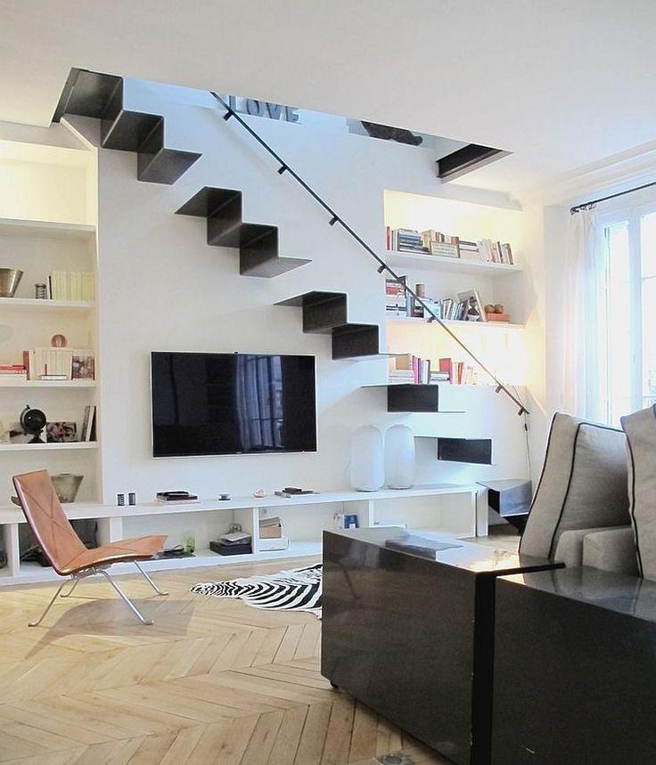 35 Modern Interior Design Ideas Incorporating Columns Into: 17 Best Ideas About Modern Staircase On Pinterest