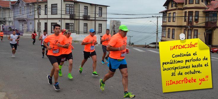 Maratón Valparaíso - Inscripcioens hasta el 31 de Octubre