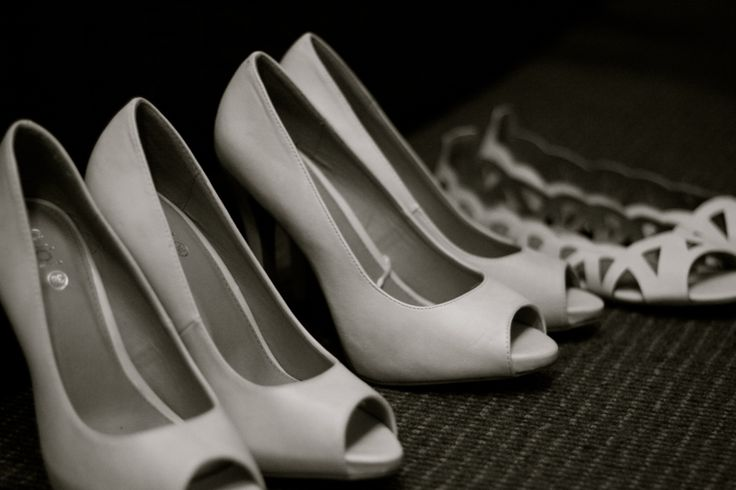 Shoes, wedding, black and white