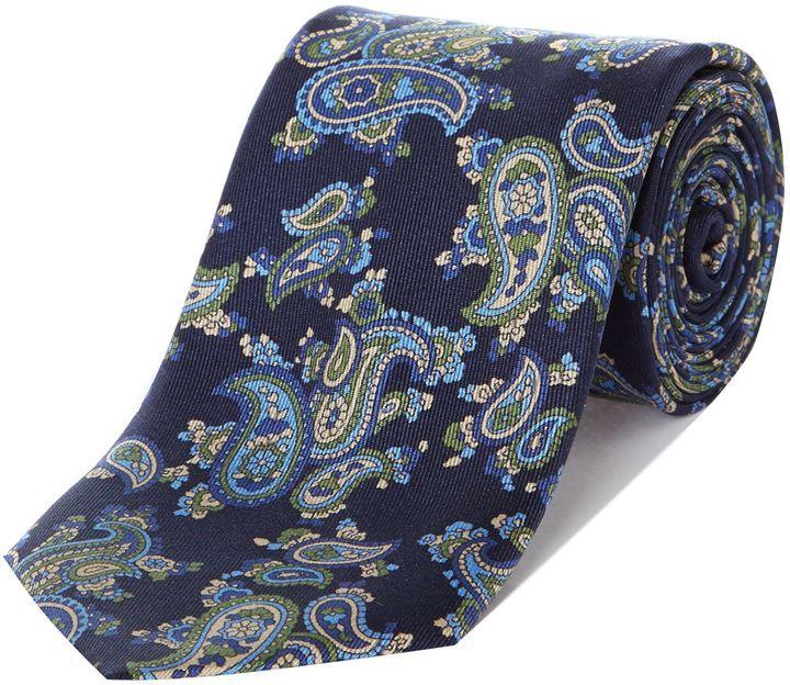 New & Lingwood Hedgeland floral print tie